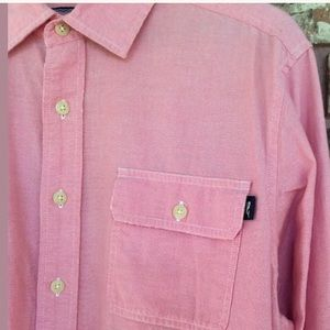 Men's L Pink Vineyard Vines Long Sleeve Dock Shirt